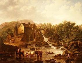 River Scene with Overshot Mill 1833