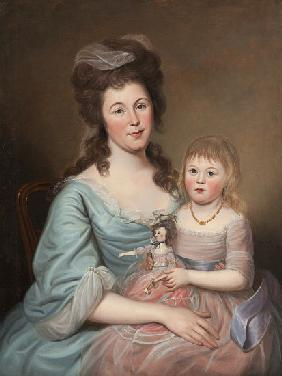 Peggy Sanderson Hughes and her Daughter 1788-89