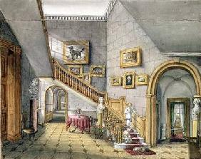 The Staircase, Strood Park, f.26 from an 'Album of Interiors' 1843  on