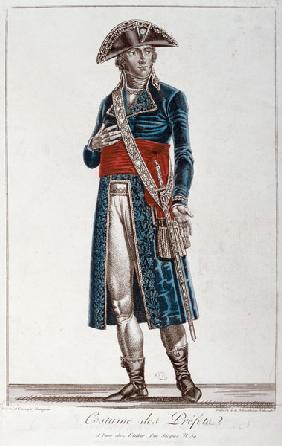 Costume of a Prefect during the period of the Consulate (1799-1804) of the First Republic, c.1800 (c 15th