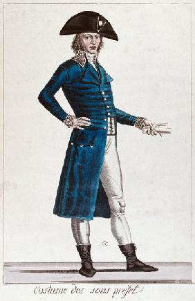 Costume of an Under-Prefect during the period of the Consulate (1799-1804) of the First Republic in 15th