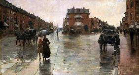 Regentag, Boston 1885