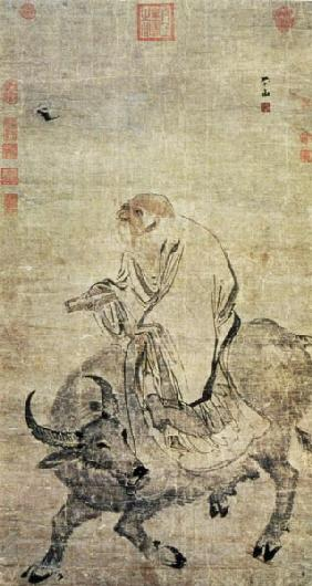 Lao-tzu (c.604-531 BC) riding his ox Ming Dynas