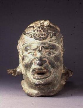 Head of a guardian figure, from the entrance of a tomb or temple, possibly a dvarapala, from the ent Ming Dynas