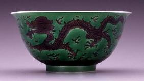 Bowl depicting a dragon in pursuit of flaming pearls Jiaqing ma