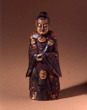 Figure of Song Niang-Niang, with three children, Fujian, Qing dynasty 19th centu