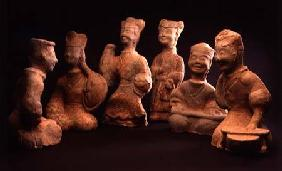 Group of Musicians, Dancers and Servants, Han Dynasty (206 BC-220 AD) Han Dynast