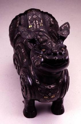 Pouring vessel in the form of an imaginary tapir-like beast, Ming dynasty 16th-17th