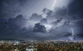 Lightning over Athens