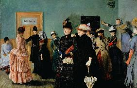 Albertine at the Police Doctor''s waiting room, 1886-87