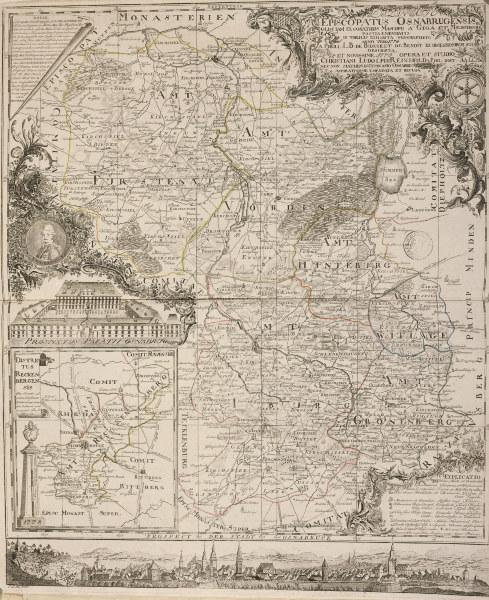 landkarte bistum osnabr ck 1778 christian ludolph reinhold als kunstdruck oder handgemaltes. Black Bedroom Furniture Sets. Home Design Ideas
