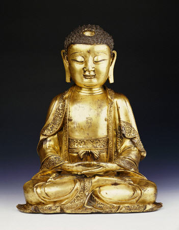 a fine ming gilt bronze buddha artist christies artist. Black Bedroom Furniture Sets. Home Design Ideas