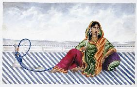 A Watercolour Picture Of A Courtesan Entitled ''Indian Costumes/Mrs Baldock''
