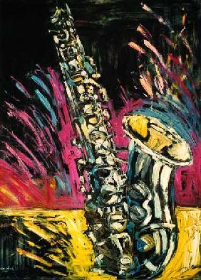 Kunstdruck von Christoph Menschel - Saxophon IV