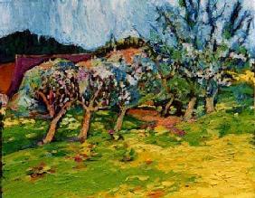 Kunstdruck von Christoph Menschel - Apfelblüte bei Vogt II