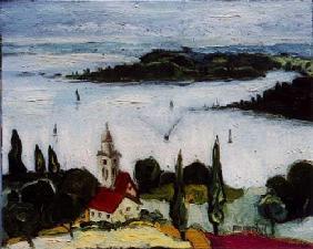 Kunstdruck von Christoph Menschel - Blick auf Mainau