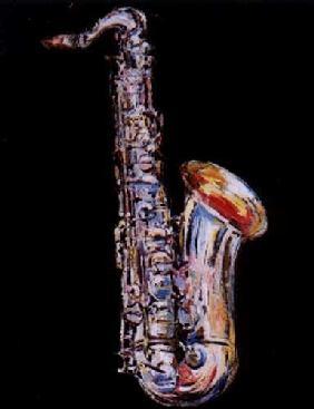 Kunstdruck von Christoph Menschel - Saxophon I
