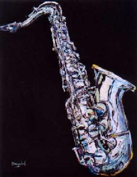 Kunstdruck von Christoph Menschel - Saxophon III