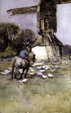 Horseman by a Windmill