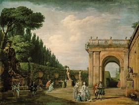 The Gardens of the Villa Ludovisi, Rome 1749