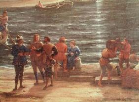 Ulysses Returning Chryseis to her Father  (detail)