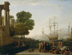 A Seaport at Sunset 1643