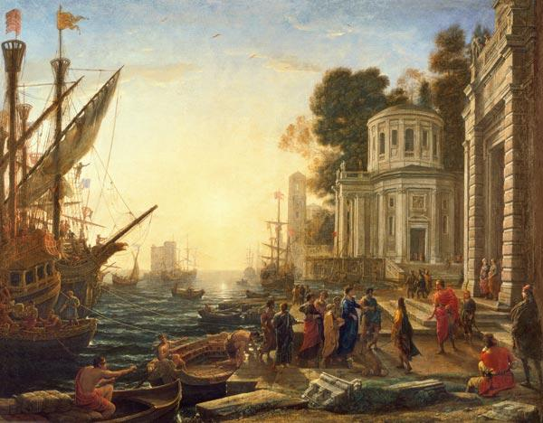 Cleopatra Disembarking at Tarsus 1642