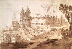 View of the Church of S. Trinita dei Monti, Rome 1632
