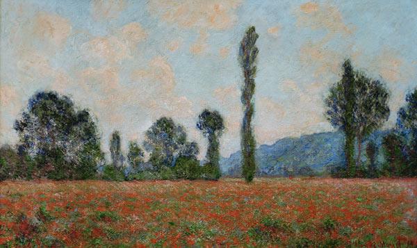 Champ des Coquelicots Mohnfeld - Claude Monet Kunstdrucke als ...