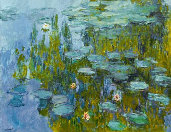 Seerosen (Nymphéas) - Claude Monet als Kunstdruck oder handgemaltes ...
