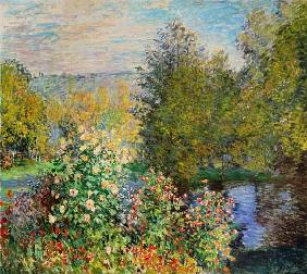 Monet, Claude : A Corner of the Garden at ...