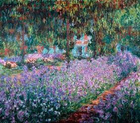 Monet, Claude : Bl�hende Iris in Monets Ga...