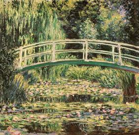 Monet, Claude : Br�cke in Monets Garten mi...