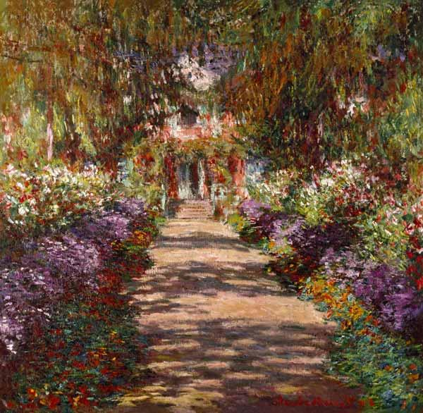 Monet, Claude : Allee in Giverny (Auch Gar...