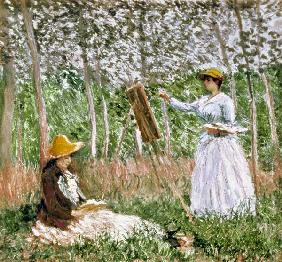 Blanche Monet Painting c.1887