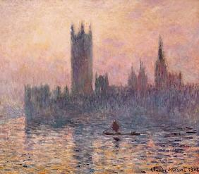 Das Parlament in London bei Sonnenuntergang 1903