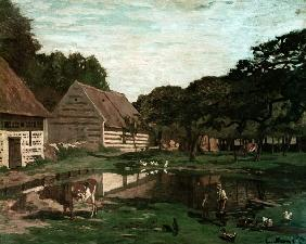 A Farmyard in Normandy c.1863