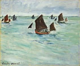 Fishing Boats at Pourville 1882