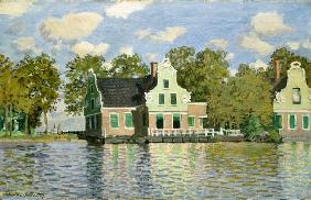 Monet, Claude : H�user am Wasser (Zaandam)...