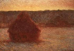 Haystacks at Sunset, Frosty Weather 1891