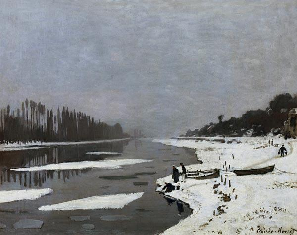 Ice on the Seine at Bougival c.1864-69