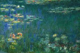 Monet, Claude : Seerosen, Gr�ne Reflektion...