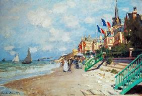 Monet, Claude : Am Strand von Trouville