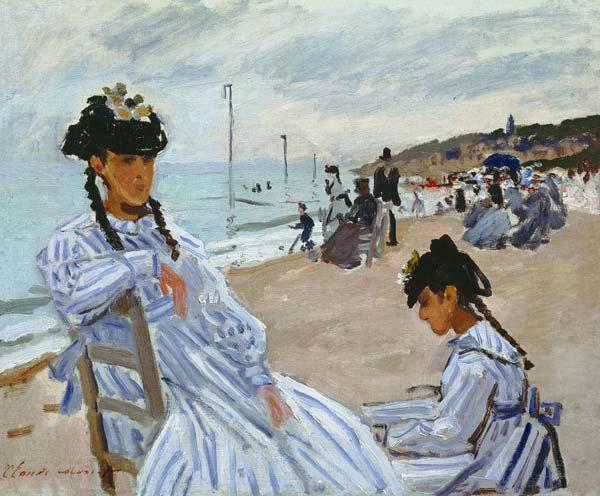 On the Beach at Trouville 1870-71
