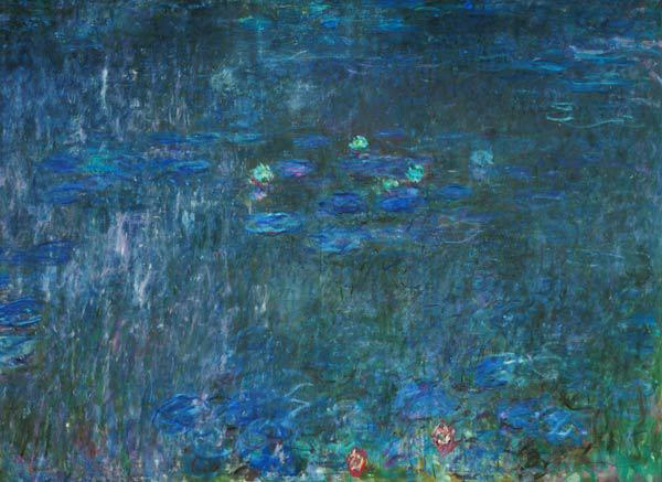 Waterlilies: Reflections of Trees, detail from the right hand side 1915-26