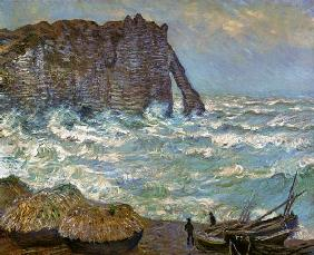 Rough Sea at Etretat 1883