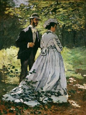 The Promenaders, or Bazille and Camille 1865
