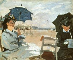 The Beach at Trouville 1870