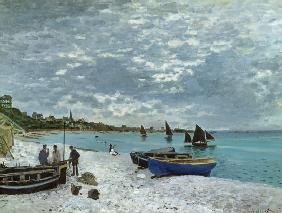 Monet, Claude : The Beach at Sainte-Adress...