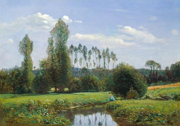 Monet, Claude : View at Rouelles
